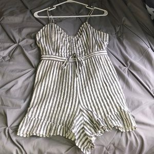 American Eagle striped romper